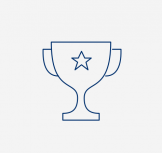Icon of a trophy with a star on it