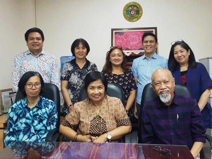 Study team and RTAC facilitator, Dr. Jose Rodriguez, with Dr. Myrna Cabotaje, Undersecretary, Department of Health.
