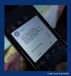 Smartphone with alert